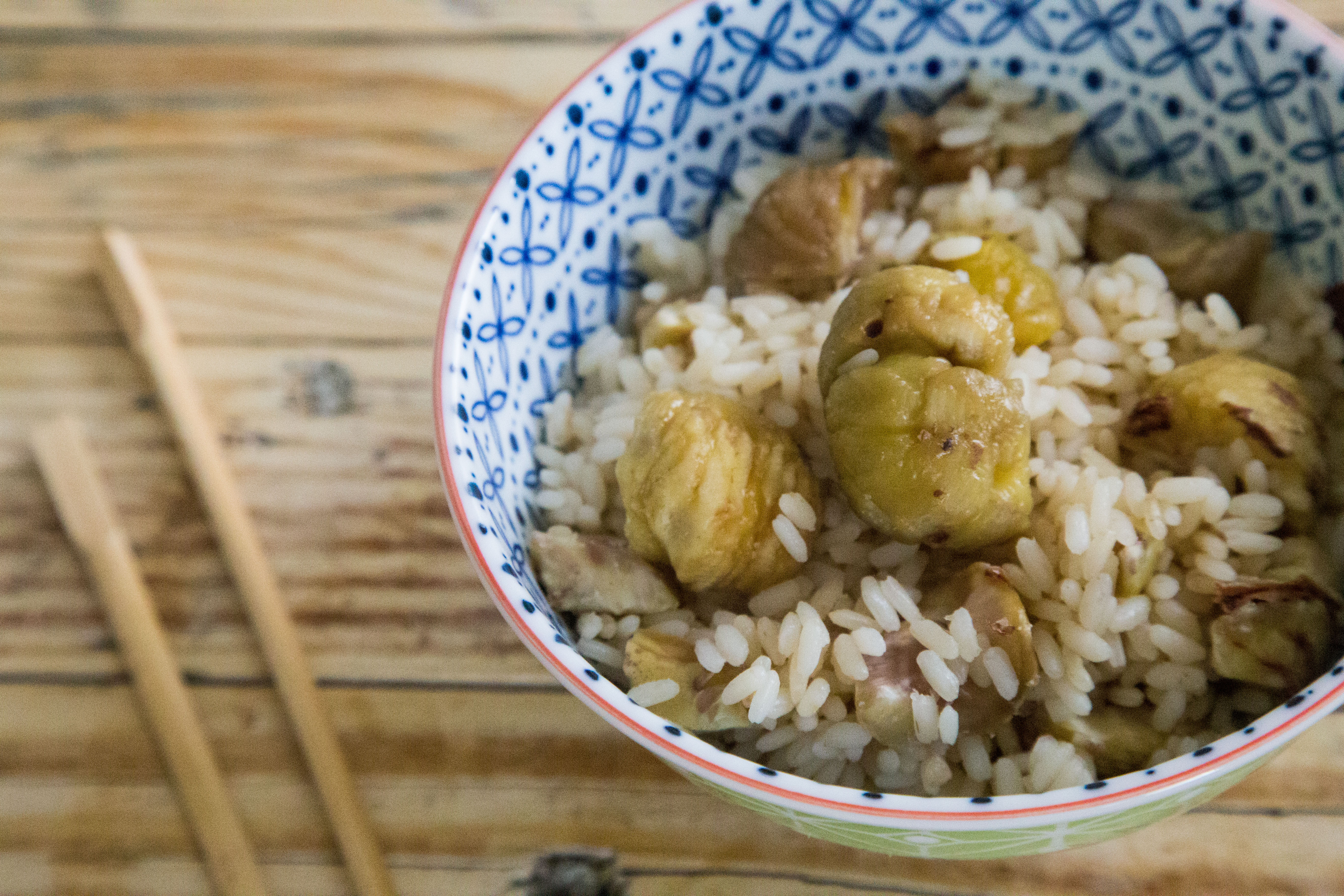 Veg recipe: Rice with chestnuts