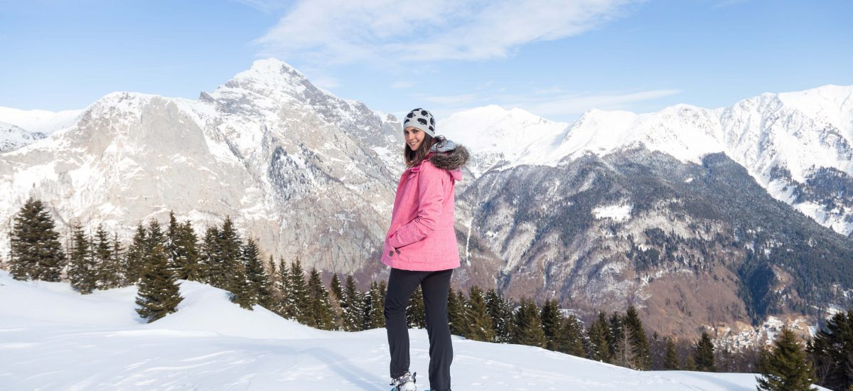 A DAY IN SNOWSHOES IN THE NORTHEAST OF ITALY || FROM CLEULIS TO CASERA TIERZ