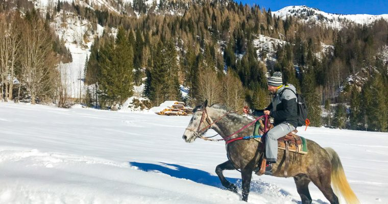 Horseback riding in the snow in Friuli Venezia Giulia. Here's where you can do it.